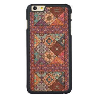 Ornamento de talavera do mosaico do vintage capa para iPhone 6 plus de bordo, carved