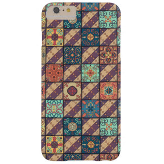 Ornamento de talavera do mosaico do vintage capas iPhone 6 plus barely there