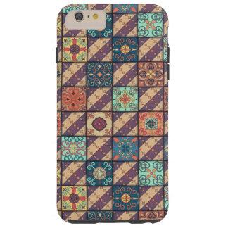 Ornamento de talavera do mosaico do vintage capas iPhone 6 plus tough