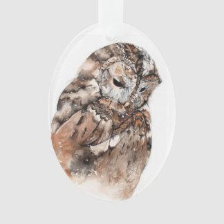 Ornamento Decoração cerâmica da coruja