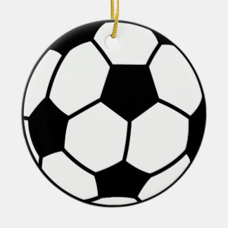 Ornamento decorativo da bola de futebol