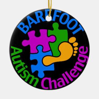 Ornamento descalço do desafio do autismo