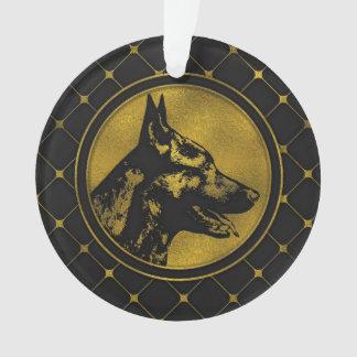 Ornamento Design holandês dourado decorativo do pastor