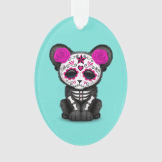 Ornamento Dia cor-de-rosa da pantera preta inoperante Cub