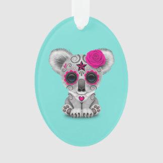 Ornamento Dia cor-de-rosa do Koala inoperante do bebê