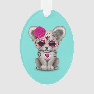 Ornamento Dia cor-de-rosa do leão Cub inoperante