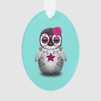 Ornamento Dia cor-de-rosa do pinguim inoperante do bebê