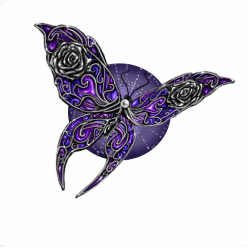 Ornamento digital Jeweled da arte da borboleta Escultura Fotos