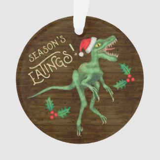 Ornamento Dinossauro engraçado Eatings do Velociraptor do