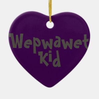Ornamento do 2-Tom do miúdo de Wepwawet (cerâmico)