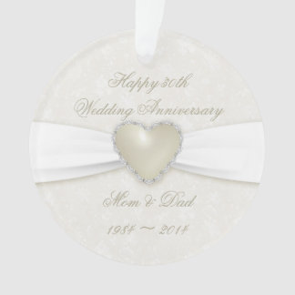 Ornamento do acrílico do aniversário de casamento