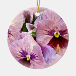 Ornamento do amor perfeito - roxo cor-de-rosa -