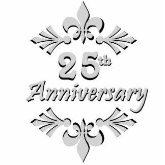 Ornamento do aniversário da flor de lis 25o escultura foto