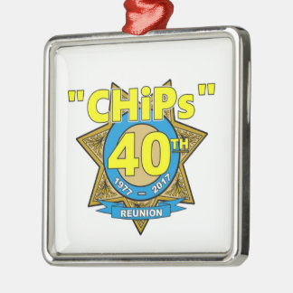 Ornamento do aniversário das microplaquetas 40th