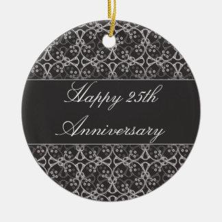Ornamento do aniversário do conjunto cinzento da