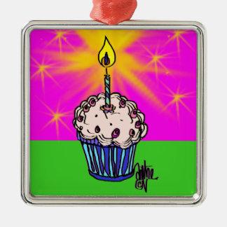 Ornamento do aniversário do cupcake