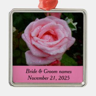 Ornamento do aniversário do rosa do rosa