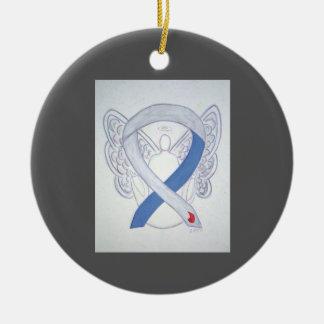 Ornamento do anjo da fita IDDM da consciência do