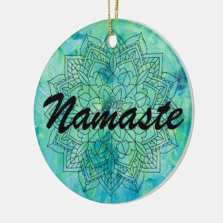 Ornamento do azul da mandala de Namaste