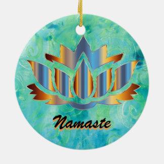 Ornamento do azul de Namaste Lotus