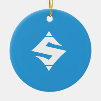 Ornamento do azul do SUMO