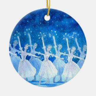 Ornamento do balé - dança dos flocos de neve