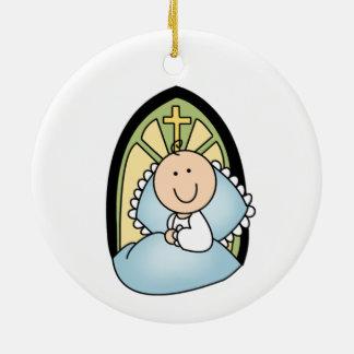 Ornamento do baptismo do bebé