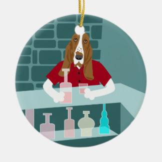 Ornamento do bar do uísque de Basset Hound