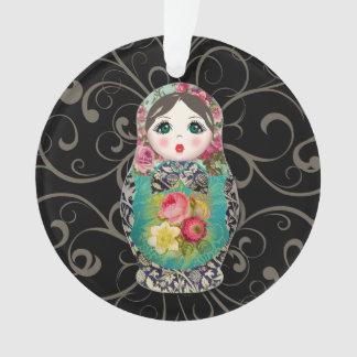 Ornamento do bebê do Natal das bonecas do russo o