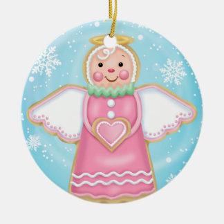 Ornamento do biscoito do anjo do feriado