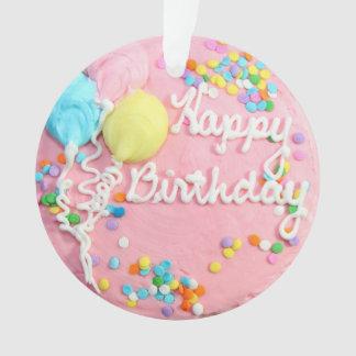 Ornamento do bolo do feliz aniversario
