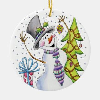 Ornamento do boneco de neve