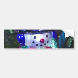 Ornamento do boneco de neve adesivo