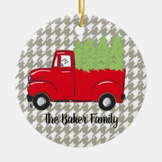 Ornamento do caminhão do Natal