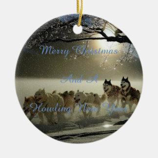 Ornamento do cão da neve do Natal