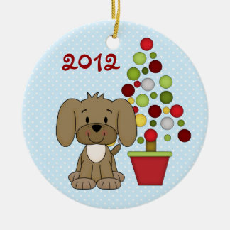 Ornamento do cão do Natal do bebê personalizado ø