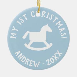 Ornamento do cavalo de balanço da árvore de Natal