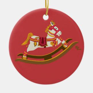 Ornamento do cavalo de balanço do feriado