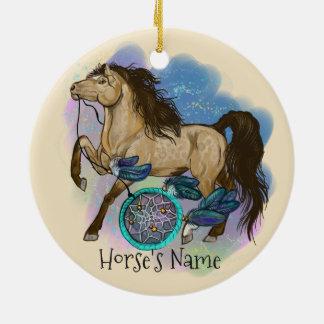 Ornamento do cavalo de Dreamcatcher do Buckskin