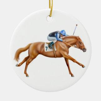 Ornamento do cavalo de raça do puro-sangue da