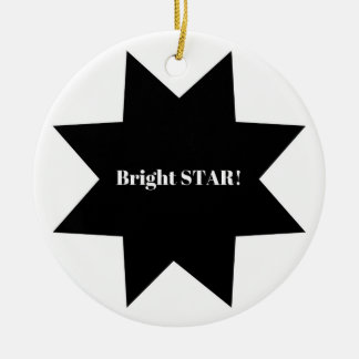 "Ornamento do círculo com subtítulo ""estrela"
