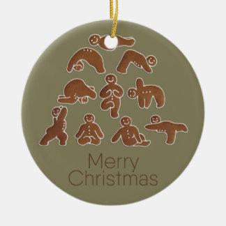 Ornamento do círculo da ioga do pão-de-espécie