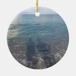 Ornamento do círculo da sombra da praia