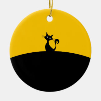 Ornamento do círculo do gato preto