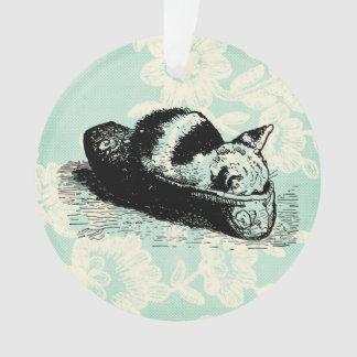 Ornamento do círculo do laço da hortelã do