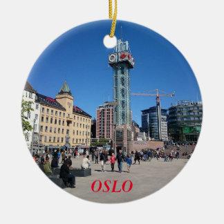Ornamento do círculo do panorama de Oslo Noruega