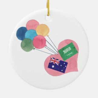 ornamento do círculo do saudita-australiano