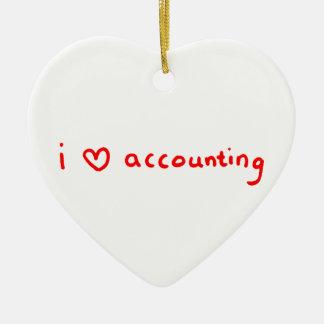Ornamento do contador - contabilidade do amor de I