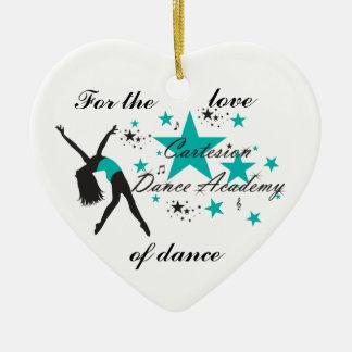 Ornamento do coração da dança de Cartesion