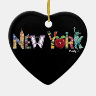 Ornamento do coração de New York